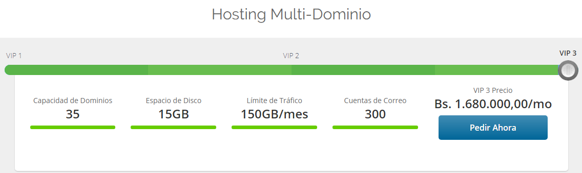 Plan multi-dominio VeneHosting