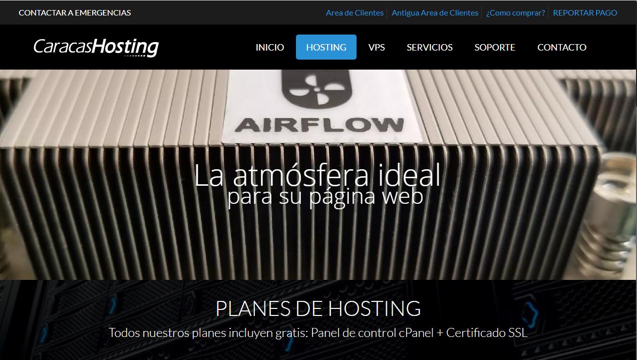 Caracas Hosting eCommerce