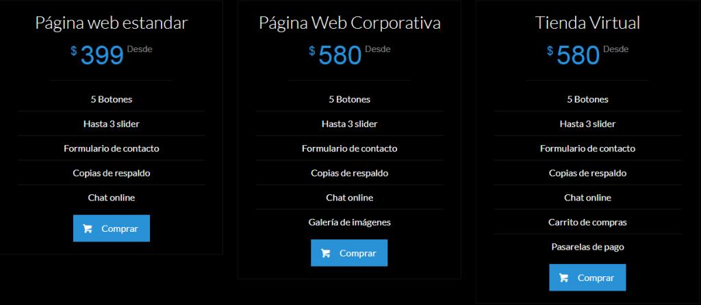 paginas Caracas Hosting