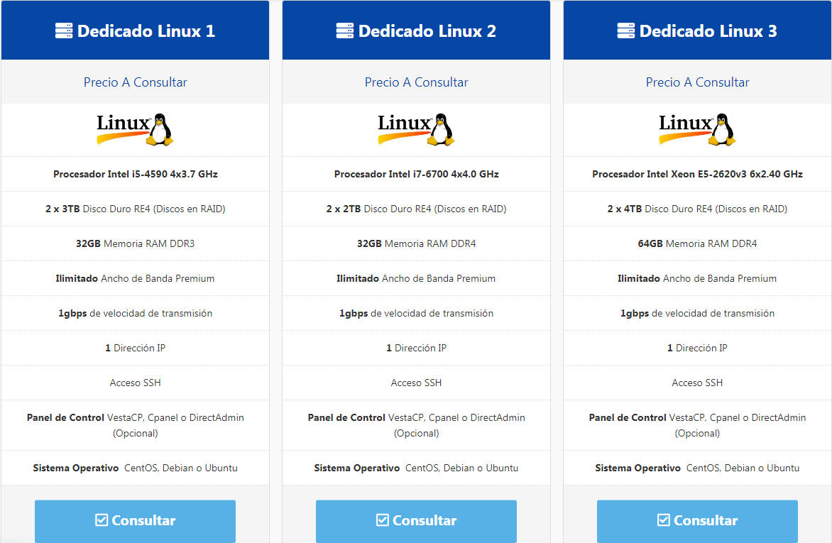 Planes Dedicado Linux