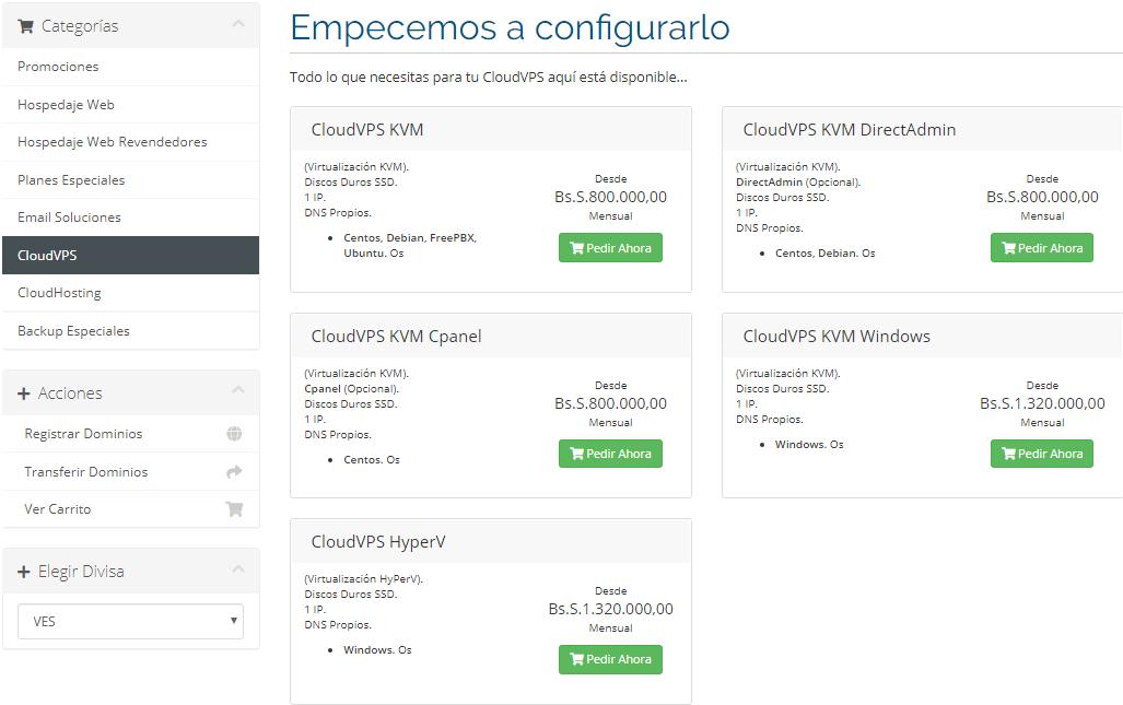 Cloud VPS servicios Hosting